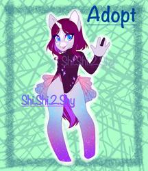 Size: 2125x2460   Tagged: safe, artist:shishi, oc, anthro, unguligrade anthro, unicorn, adoptable, adopts, anthro oc, for sale, unicorn oc