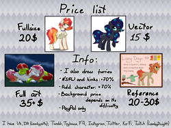 Size: 2670x2000 | Tagged: safe, artist:lambydwight, oc, oc only, pony, advertisement, commission info, price sheet, text