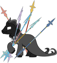 Size: 2166x2401 | Tagged: safe, artist:sketchmcreations, pony of shadows, unicorn, clothes, coat, kingdom hearts, male, nobody, organization xiii, simple background, spear, stallion, transparent background, vector, weapon, xaldin