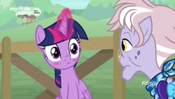 Size: 1920x1080   Tagged: safe, screencap, dusty pages, twilight sparkle, alicorn, pony, the point of no return, spoiler:s09e05, blushing, twilight sparkle (alicorn)