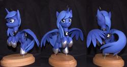 Size: 4096x2160 | Tagged: safe, artist:h1ppezz, princess luna, pony, craft, irl, photo, sculpture, solo