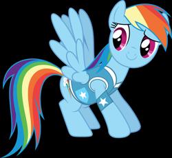 Size: 4000x3675 | Tagged: safe, artist:dashiesparkle, rainbow dash, pegasus, pony, winter wrap up, clothes, high res, simple background, solo, transparent background, vector, vest, winter wrap up vest