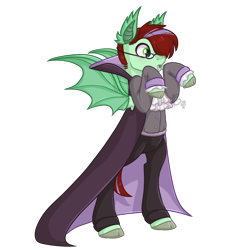 Size: 3000x3000 | Tagged: safe, artist:solareflares, oc, oc only, oc:ember heartshine, pegasus, pony, bat pony costume, bipedal, clothes, costume, fangs, nightmare night costume, simple background, solo, spoopy, standing, transparent background