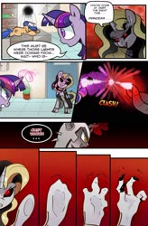 Size: 1280x1949 | Tagged: safe, artist:candyclumsy, twilight sparkle, oc, alicorn, comic:curse and madness, mlpcam, nurse, transformation, twilight sparkle (alicorn)