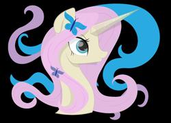 Size: 2898x2070 | Tagged: safe, artist:santamouse23, fluttershy, pony, unicorn, leak, spoiler:g5, badass, bust, female, fluttershy (g5), g5, mare, redesign, simple background, solo, transparent background, unicorn fluttershy