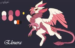 Size: 4096x2622   Tagged: safe, artist:avery-valentine, oc, oc only, griffon, color palette, griffon oc, simple background, solo