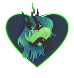Size: 4069x4277 | Tagged: safe, artist:77jessieponygames77, queen chrysalis, changeling, cute, cutealis, female, glowing horn, heart, horn, simple background, smiling, solo, transparent background