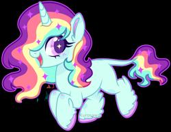 Size: 2790x2150 | Tagged: safe, artist:kurosawakuro, oc, pony, unicorn, female, high res, magical lesbian spawn, mare, offspring, parent:rainbow dash, parent:sunset shimmer, parents:sunsetdash, simple background, solo, transparent background