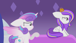 Size: 2109x1187 | Tagged: safe, artist:sugarcloud12, princess flurry heart, oc, pegasus, pony, crown, female, filly, jewelry, older, regalia