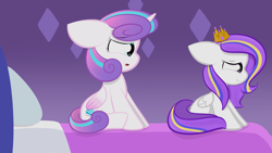 Size: 2109x1187 | Tagged: safe, artist:sugarcloud12, princess flurry heart, pegasus, pony, crown, female, filly, jewelry, older, regalia