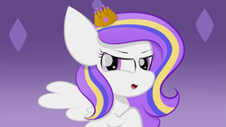 Size: 2109x1187 | Tagged: safe, artist:sugarcloud12, oc, pegasus, pony, crown, female, filly, jewelry, regalia, solo