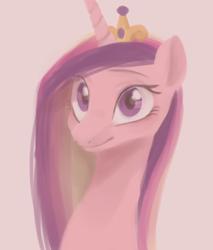 Size: 822x966   Tagged: safe, artist:haden-2375, princess cadance, alicorn, pony, bust, female, mare, portrait, smiling, solo