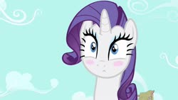 Size: 1280x720 | Tagged: safe, screencap, rarity, pony, unicorn, simple ways, blushing, confused, cute, female, looking at you, mare, solo