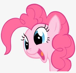 Size: 820x788 | Tagged: artist needed, safe, pinkie pie, earth pony, pony, bust, cute, diapinkes, female, happy, mare, open mouth, smiling, vector