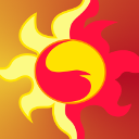 Size: 128x128 | Tagged: safe, sunset shimmer, cutie mark, gradient background, icon