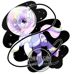 Size: 1000x1000 | Tagged: safe, artist:thanhvy15599, oc, oc only, oc:orbit, earth pony, pony, commission, female, helmet, mare, open mouth, simple background, solo, space, transparent background, ych result