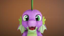 Size: 1920x1080   Tagged: safe, artist:kaiden jackson, spike, dragon, 3d, 3d model, maya, mudbox, winged spike