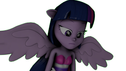 Size: 4195x2360   Tagged: safe, artist:fazbearsparkle, twilight sparkle, alicorn, equestria girls, equestria girls (movie), 3d, fall formal outfits, png, ponied up, remade, simple background, solo, source filmmaker, transparent background, twilight sparkle (alicorn)