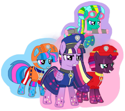 Size: 1149x1024   Tagged: safe, artist:徐詩珮, fizzlepop berrytwist, glitter drops, spring rain, tempest shadow, twilight sparkle, alicorn, unicorn, series:sprglitemplight diary, series:sprglitemplight life jacket days, series:springshadowdrops diary, series:springshadowdrops life jacket days, alternate universe, base used, bisexual, broken horn, clothes, equestria girls outfit, female, flying, glitterbetes, glitterlight, glittershadow, horn, lesbian, lifeguard spring rain, magic, paw patrol, polyamory, rainbow power, rainbow power-ified, shipping, sprglitemplight, springbetes, springdrops, springlight, springshadow, springshadowdrops, tempestbetes, tempestlight, transparent background, twilight sparkle (alicorn)