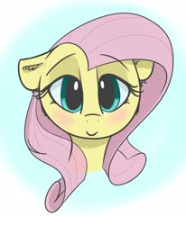 Size: 2550x3100 | Tagged: safe, artist:zzzsleepy, fluttershy, pegasus, blushing, bust, cute, ear fluff, female, floppy ears, high res, looking at you, mare, portrait, shyabetes, simple background, smiling, solo