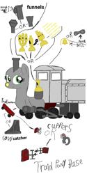 Size: 1080x2160 | Tagged: safe, artist:calebtyink, object pony, original species, train pony, base, template, train, train ponies
