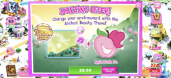 Size: 2436x1125 | Tagged: safe, idw, dj pon-3, gaffer, pinkie pie, stygian, vinyl scratch, night of the living apples, spoiler:comic, spoiler:comic32, advertisement, apple, apple pinkie, costs real money, food, game screencap, gameloft, idw showified, official