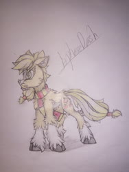 Size: 1080x1440 | Tagged: safe, artist:creature.exist, applejack, earth pony, pony, fluffy, photo, solo, traditional art