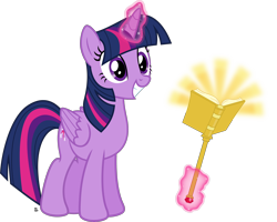 Size: 2788x2229 | Tagged: safe, artist:anime-equestria, twilight sparkle, alicorn, book, cane, cute, female, grin, happy, levitation, light, magic, mare, open book, simple background, smiling, solo, telekinesis, that pony sure does love books, transparent background, twilight sparkle (alicorn), vector, wings