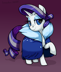 Size: 2272x2696 | Tagged: safe, artist:moonseeker, rarity, pony, unicorn, the last problem, spoiler:s09e26, cloak, clothes, female, looking at you, mare, older, older rarity, solo