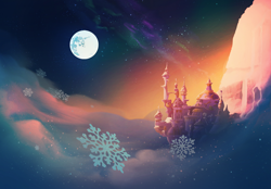 Size: 1768x1227 | Tagged: safe, artist:lummh, canterlot, mare in the moon, moon, no pony, scenery, wallpaper