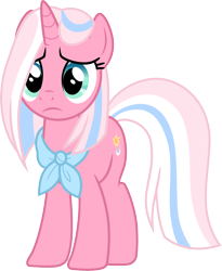Size: 3000x3654 | Tagged: safe, artist:cloudyglow, clear sky, pony, unicorn, common ground, spoiler:s09e06, .ai available, bandana, female, high res, looking at you, mare, simple background, transparent background, vector