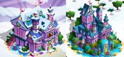 Size: 860x394 | Tagged: safe, comparison, gameloft, school of friendship
