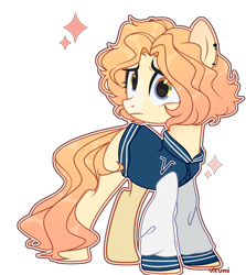 Size: 1966x2206 | Tagged: safe, artist:yourfiend, oc, oc only, oc:virumi, earth pony, pony, clothes, ear piercing, earring, female, jacket, jersey, jewelry, mare, piercing, rainbow eyes, simple background, solo, transparent background