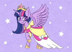 Size: 1800x1300 | Tagged: safe, artist:emiiambar, twilight sparkle, alicorn, big crown thingy, clothes, coronation dress, dress, element of magic, female, jewelry, regalia, solo, twilight sparkle (alicorn)