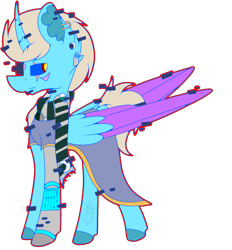 Size: 1385x1491 | Tagged: safe, artist:chazmazda, oc, oc only, pony, commission, commissions open, digital art, error, glitch, shade, simple background, solo, transparent background