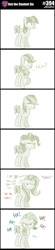Size: 800x3612 | Tagged: safe, artist:sintakhra, sandbar, earth pony, pony, tumblr:studentsix, alternate hairstyle, floppy ears, looking at you, male, mane swap, sandbar is not amused, solo, teenager, unamused