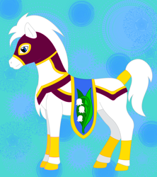 Size: 1920x2165 | Tagged: safe, artist:chili19, oc, oc only, saddle arabian, abstract background, chest fluff, male, solo, stallion, tail wrap