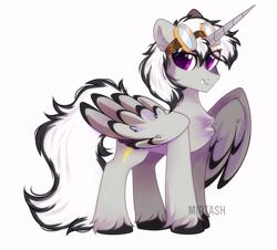 Size: 1837x1660 | Tagged: safe, artist:mirtash, oc, oc only, alicorn, pony, alicorn oc, cute, cute little fangs, fangs, goggles, solo