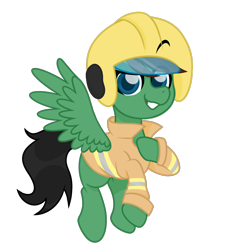 Size: 2008x2008 | Tagged: safe, artist:ninnydraws, oc, oc only, oc:delta hooves, pegasus, pony, british, eyebrows visible through helmet, firefighter, firefighter helmet, firefighter tunic, gift art, gifted commission, helmet, male, pegasus oc, simple background, solo, transparent background