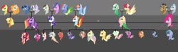 Size: 1600x474 | Tagged: safe, artist:minsona, applejack, bow hothoof, bright mac, cloudy quartz, cookie crumbles, fluttershy, gentle breeze, hondo flanks, igneous rock pie, night light, pear butter, pinkie pie, posey shy, rainbow dash, rarity, twilight sparkle, twilight velvet, windy whistles, oc, oc:astral fluff, oc:blueberry muffin, oc:cherry cider, oc:iridescent hue, oc:lasting legacy, oc:lightning bug, oc:pastel macaroon, oc:plum syrup, oc:purple skies, oc:rainy day, oc:ruby apple, oc:scattered light, oc:strawberry harvest, oc:watermelon syrup, alicorn, family tree, female, lesbian, magical lesbian spawn, mane six, next generation, offspring, omniship, parent:applejack, parent:fluttershy, parent:pinkie pie, parent:rainbow dash, parent:rarity, parent:twilight sparkle, polyamory, shipping, siblings, twilight sparkle (alicorn)
