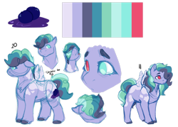 Size: 1280x919 | Tagged: safe, artist:minsona, oc, oc only, oc:blueberry muffin, pegasus, heterochromia, magical lesbian spawn, next generation, offspring, parent:pinkie pie, parent:rainbow dash, parents:pinkiedash, reference sheet, simple background, solo, transparent background