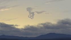 Size: 1920x1080 | Tagged: safe, artist:amarthgul, pony, cloud, digital art, scenery, sky