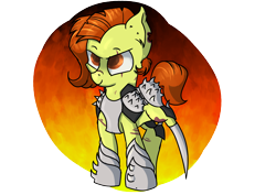 Size: 5548x3936 | Tagged: safe, artist:dumbwoofer, oc, oc:trippo, earth pony, pony, amputee, armor, rider, solo