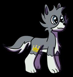 Size: 873x915 | Tagged: safe, artist:platinumdrop, oc, oc:flow, earth pony, hybrid, pony, wolf, wolf pony, simple background, solo, transparent background