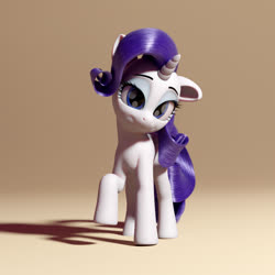 Size: 2160x2160 | Tagged: safe, rarity, 3d, blender, model:djthed, rr, solo