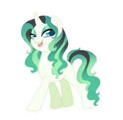 Size: 2761x2695 | Tagged: safe, artist:kittii-kat, oc, oc:emerald, pony, unicorn, base used, female, mare, simple background, solo, transparent background