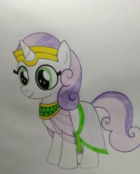 Size: 3120x3861 | Tagged: safe, artist:bsw421, sweetie belle, unicorn, egyptian, female, mare