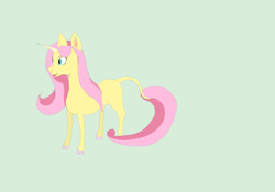 Size: 2000x1400   Tagged: safe, artist:borderlineunicorn, fluttershy, pony, unicorn, leak, spoiler:g5, female, fluttershy (g5), g5, hooves, mare, redesign, simple background, solo, unicorn fluttershy