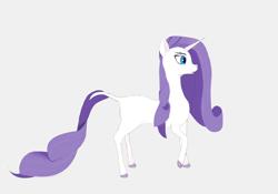 Size: 2000x1400   Tagged: safe, artist:borderlineunicorn, rarity, pony, unicorn, leak, spoiler:g5, female, g5, hooves, mare, rarity (g5), redesign, simple background, solo