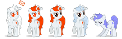 Size: 2500x800 | Tagged: safe, artist:monkeyjay, oc, oc only, oc:discentia, oc:karma, pony, unicorn, /r/mylittlepony, cutie mark, downvote, female, glowing eyes, mail, mare, mascot, multeity, palette swap, ponified, recolor, reddit, reference, reference sheet, simple background, standing, transparent background, upvote, vector, white hair